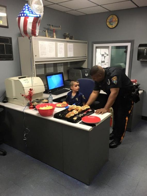 boy-saves-allowance-donates-food-police-officers