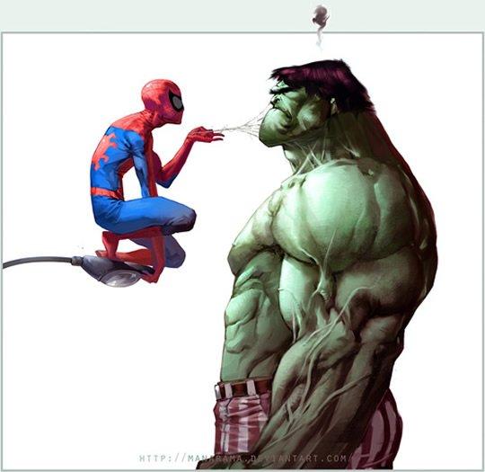 Spiderman vs hulk