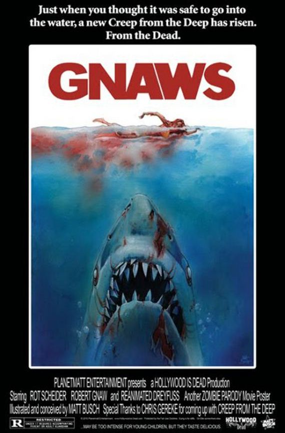 funny spoofs of the  u0026 39 jaws u0026 39  movie poster