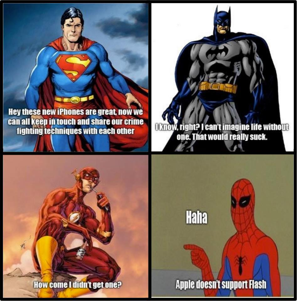 What Superman, Batman and Spiderman think about the iPhone???