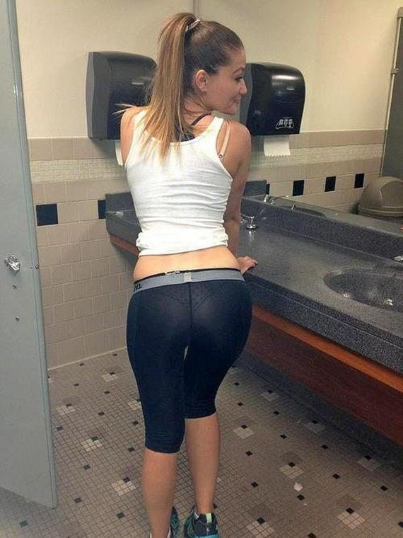 For your viewing pleasure, we present another hump day post featuring hot girls in yoga pants. While many men are not particularly intrigued with yoga in itself, the uniform has become a crowd favorite among the male population. The best part about yoga pants has to be, females also love them and they seem to wear them everywhere.