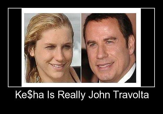 Ke Ha Is Really John Travolta Barnorama