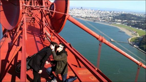 Proposal On The Top Of The Golden Gate Bridge Barnorama