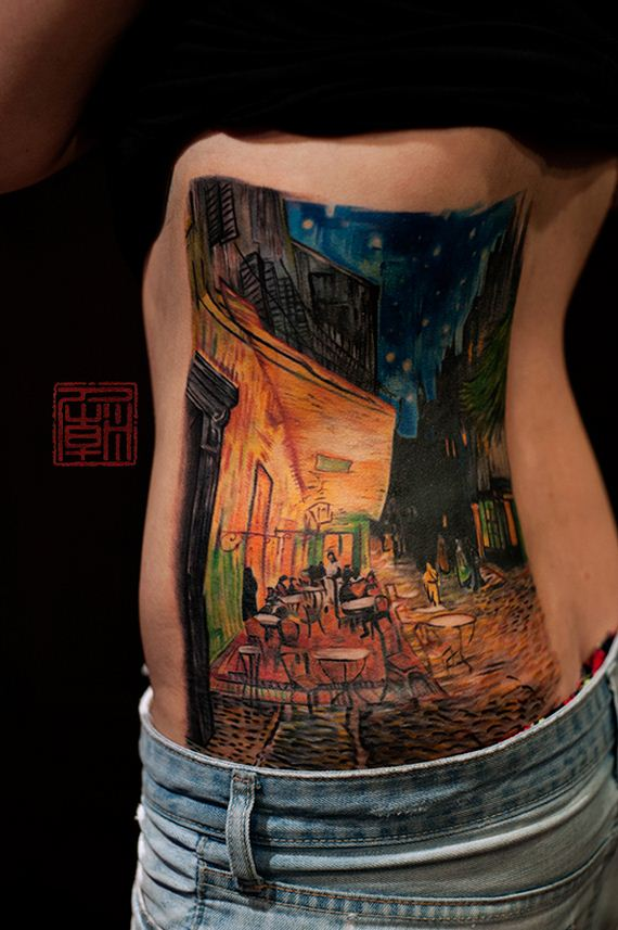 incredible tattoos inspired by works of art barnorama