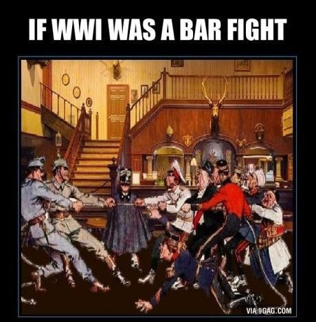 If Ww1 Was A Bar Fight Barnorama