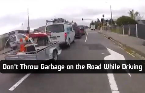 Don T Throw Garbage On The Road While Driving Barnorama