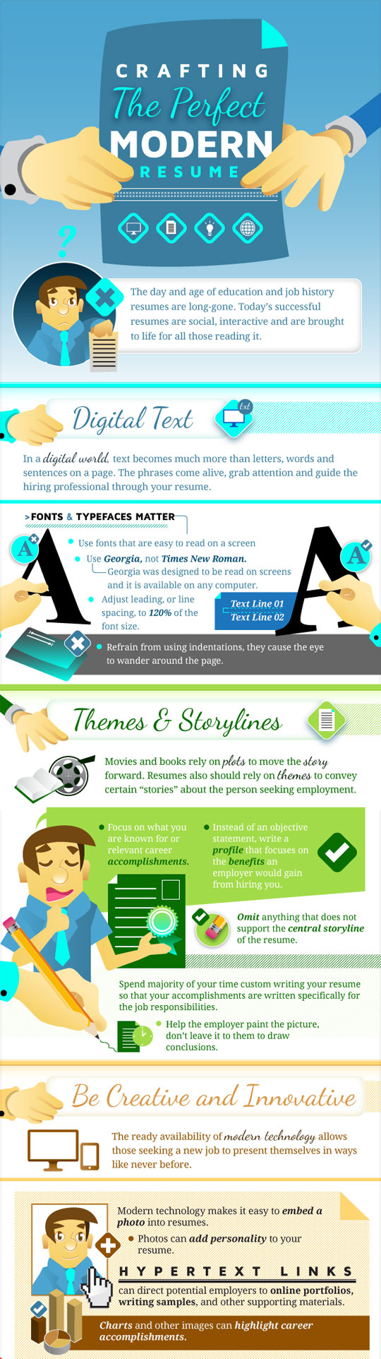 cool-infographic-perfect-resume-modern