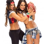 Bella Twins – Bella Bowl VI Photoshoot 2015