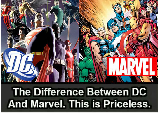 The Major Difference Between Marvel And Dc Barnorama