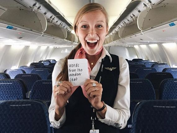 Awesome Flight Attendant Leaves Inspirational Notes For
