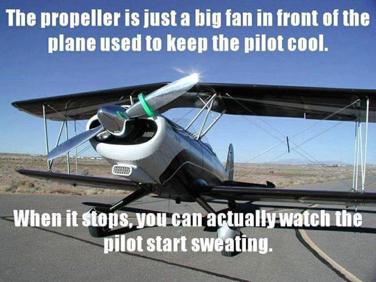 Cool Plane Propellers : Just a big fan barnorama