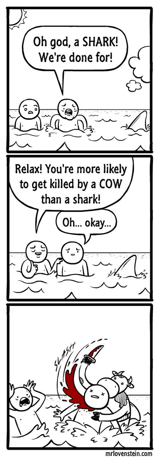 cool-sea-swimming-shark-cow-comic