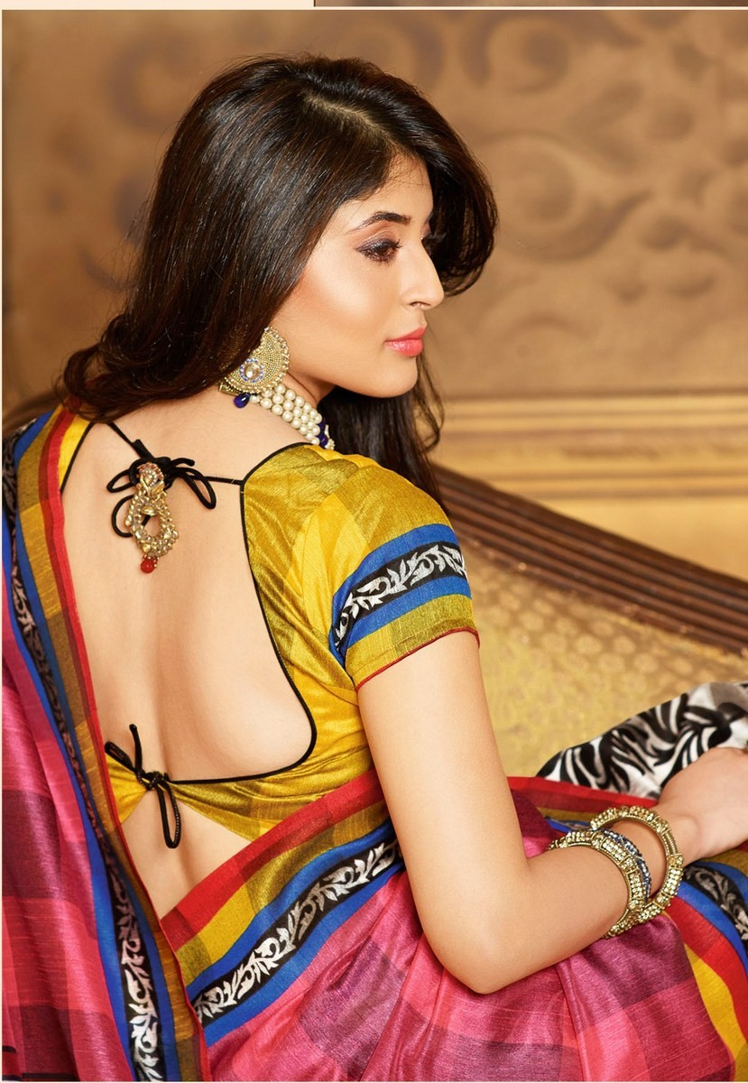 kritika-kamra-hot-backless-saree