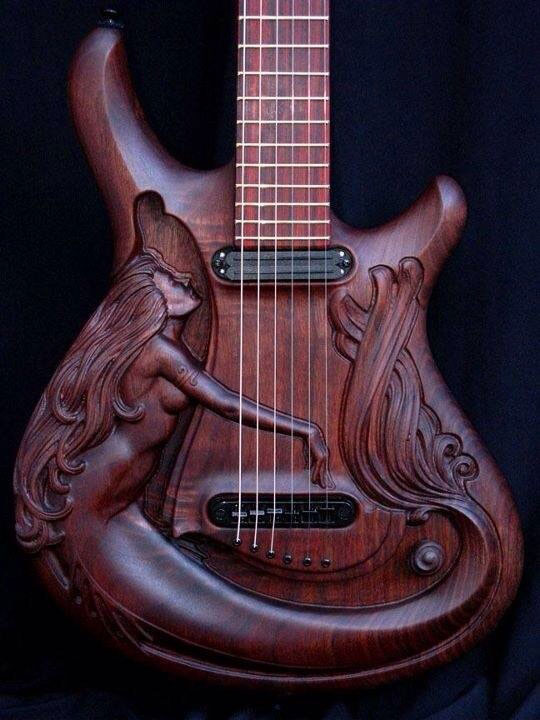 carved-guitar-mermaid-wood