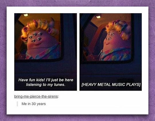 cool-monsters-inc-mother-listening-music
