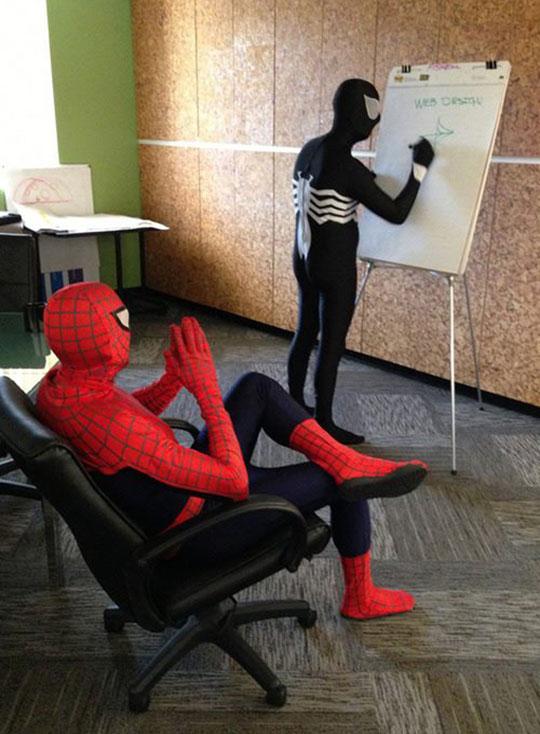 cool-spiderman-venom-web-design-office