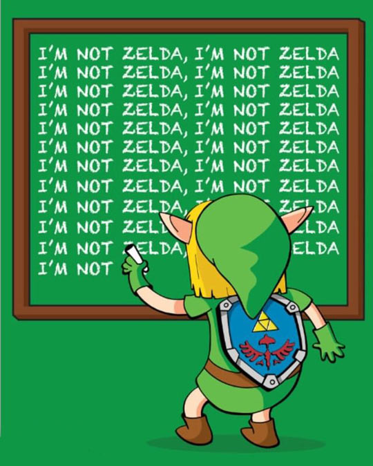 cool-zelda-link-chalk-writing