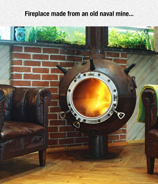 cool-fireplace-naval-mine