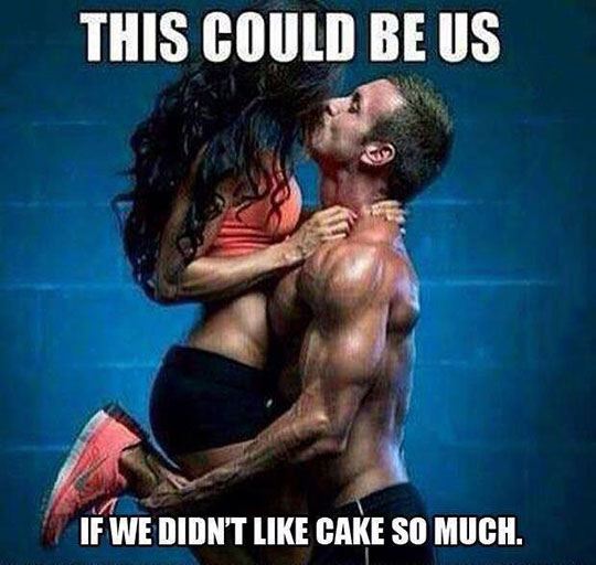 cool-gym-sport-couple-kiss-cake