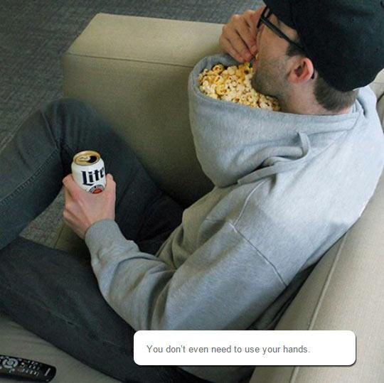 cool-hoodie-popcorn-beer-eating
