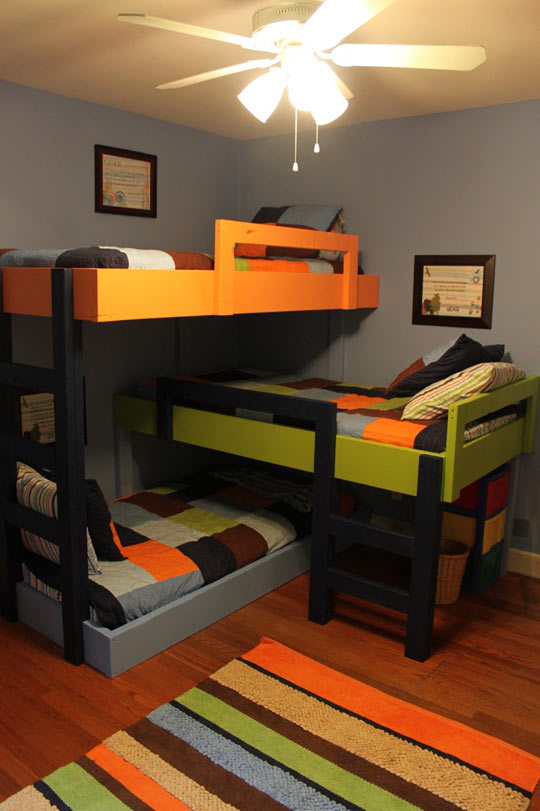 cool-triple-bunk-beds-kids-room