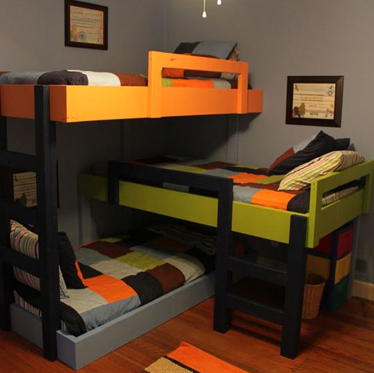 Awesome Triple Bunk Beds Barnorama