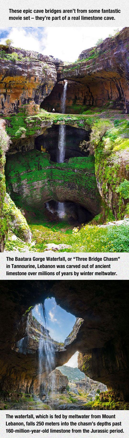 1-cool-cave-three-bridges-waterfall-movie