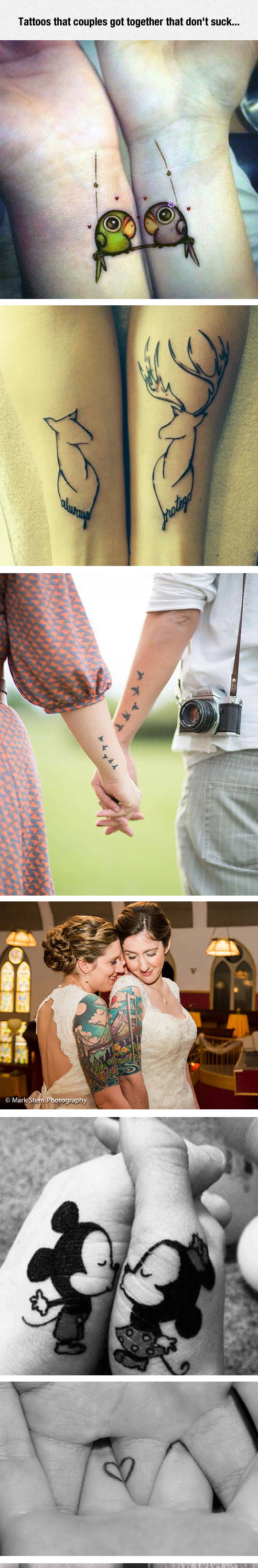 1-funny-tattoo-couple-together-birds