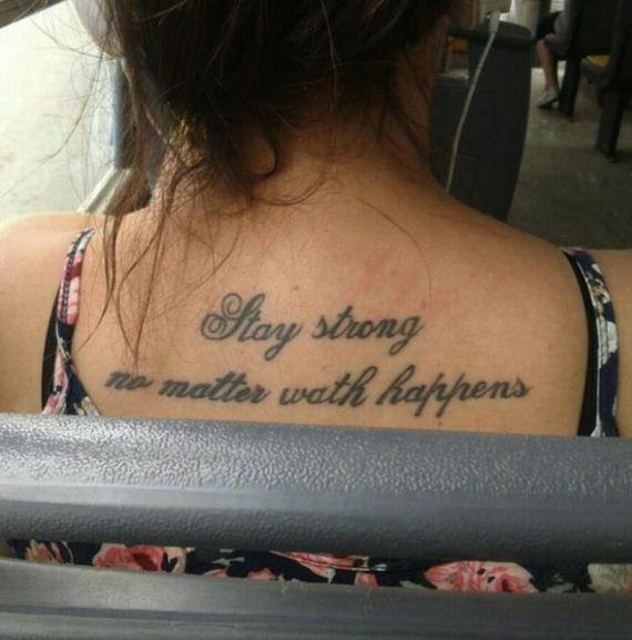 Unfortunate Tattoos With Misspelled Words