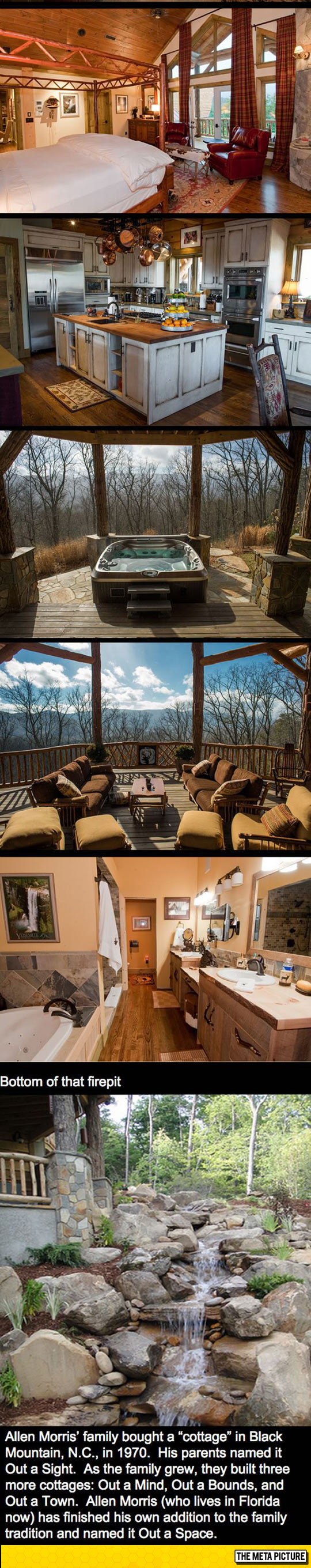 2funny-cabin-log-fire-pit-forest-deck