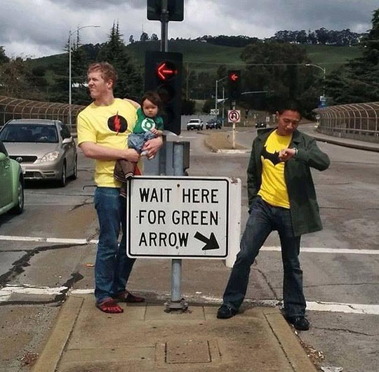cool-dad-baby-hero-green-arrow