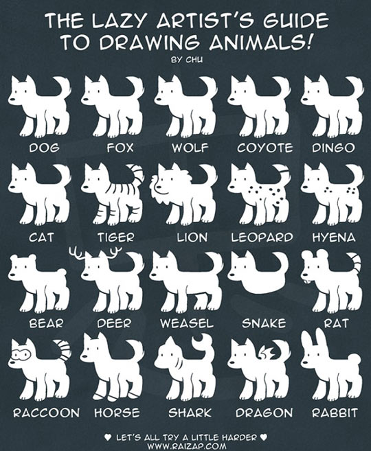 cool-guide-drawing-animals-lazy