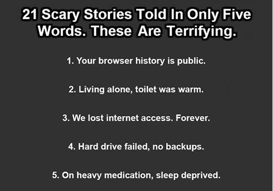 Scary Stories In Only Five Words - Barnorama