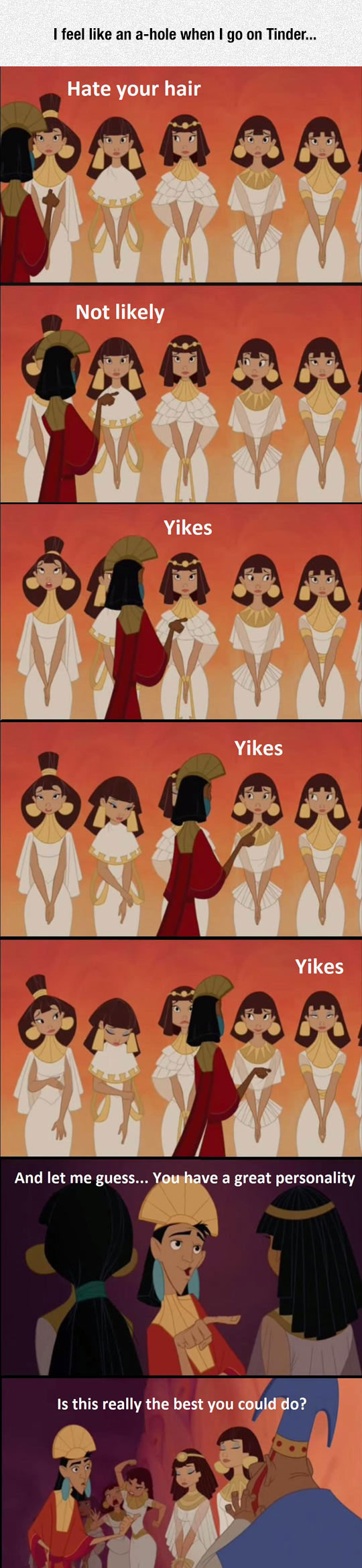 funny-kuzco-rejecting-girls-tinder-hair