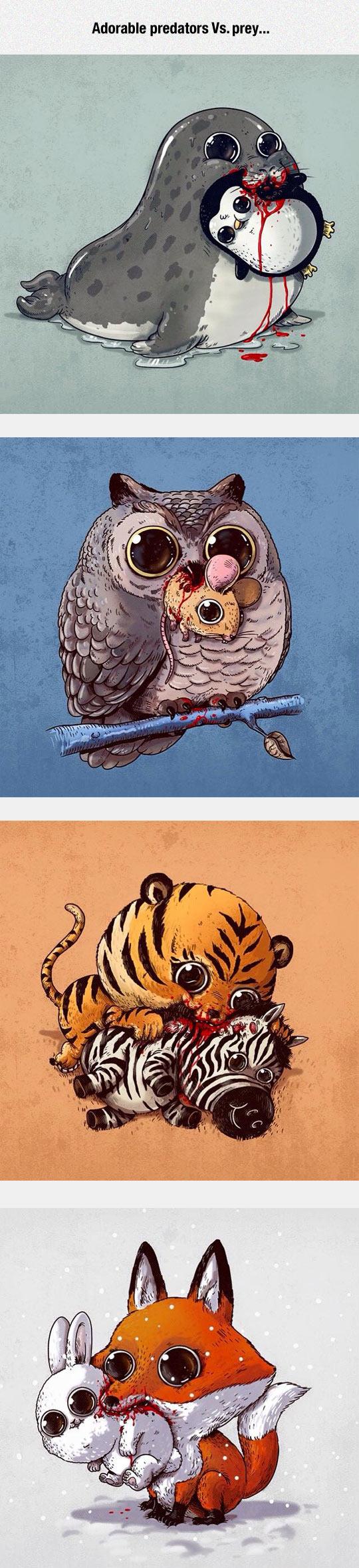 funny-adorable-predator-prey-illustration