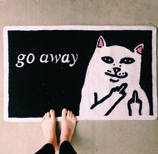 funny-cool-cat-rug-black-white