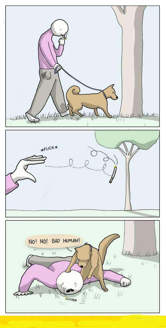 funny-dog-hypocrite-cigarette-comic