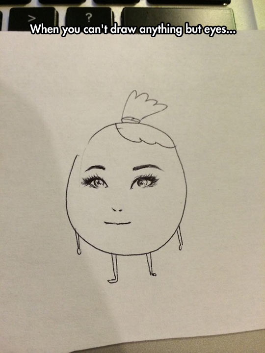funny-girl-drawing-eyes-head