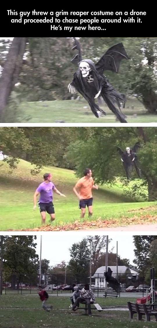 funny-grim-reaper-drone-prank-park