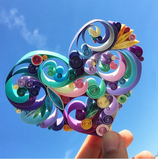 cool-paper-folding-art-heart