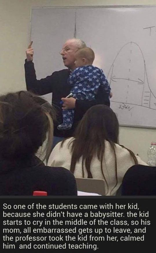cool-professor-teaching-holding-baby