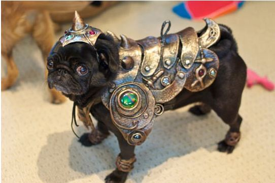 cool-pug-dog-armor-metal