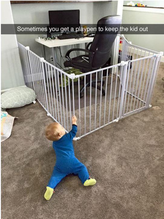 cute-baby-playpen-dad-work