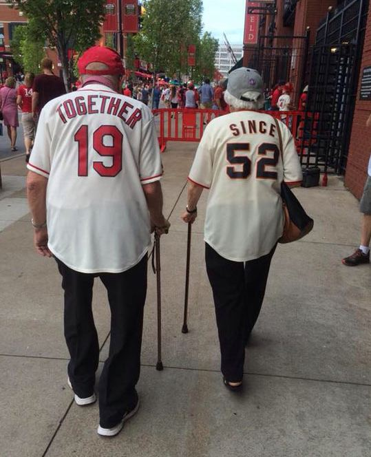 cute-old-couple-shirts-together-since