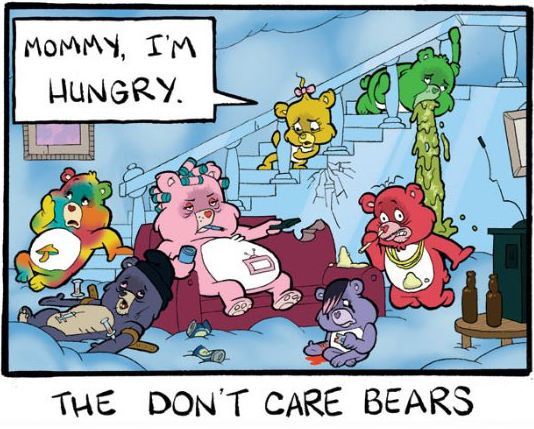 funny-care-bears-mother-kids-misery