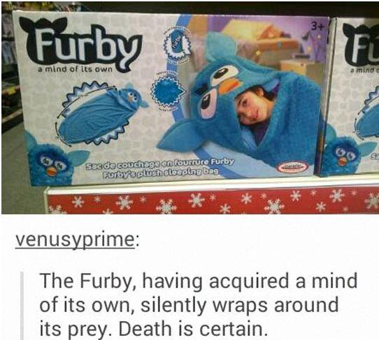 funny-furby-plush-sleeping-bag