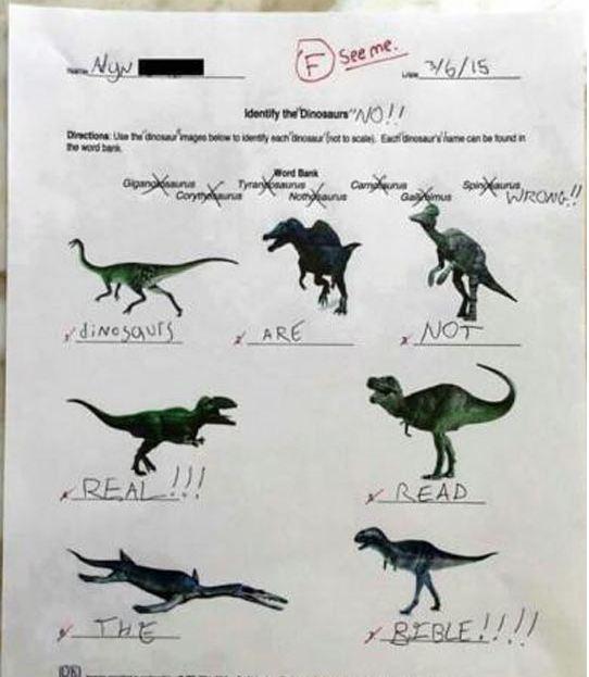 funny-dinosaurs-test-religion-grade