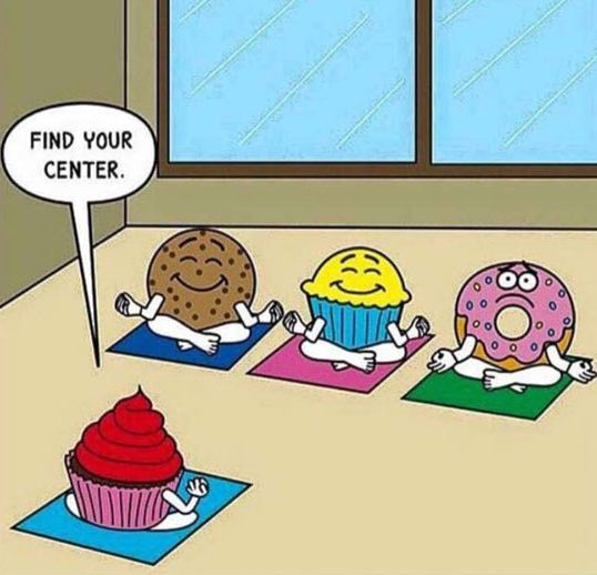 funny-donut-yoga-class