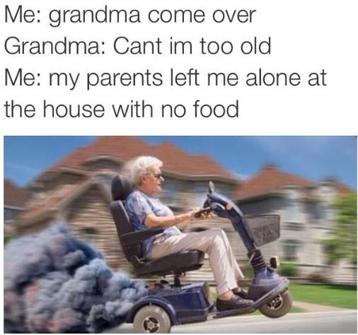 funny-grandmother-hurry-bike-no-food