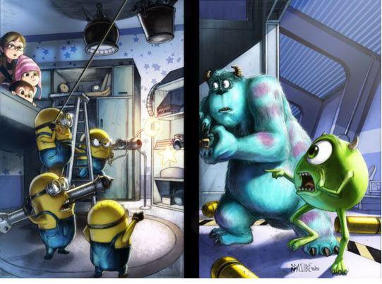 funny-minions-vs-monsters-inc-closet
